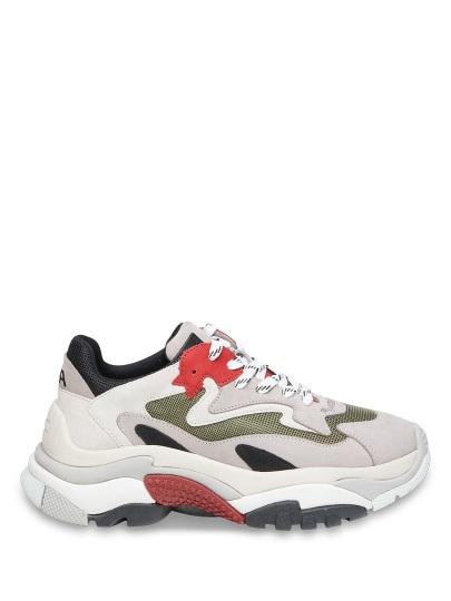 Женские демисезонные кроссовки ash addict fw18-s-126379-008,кроссовки женские,нубук/велюр/текстиль серый/красный серые | 8ah.ah69158.т купить в официальном магазине AshRussia.ru