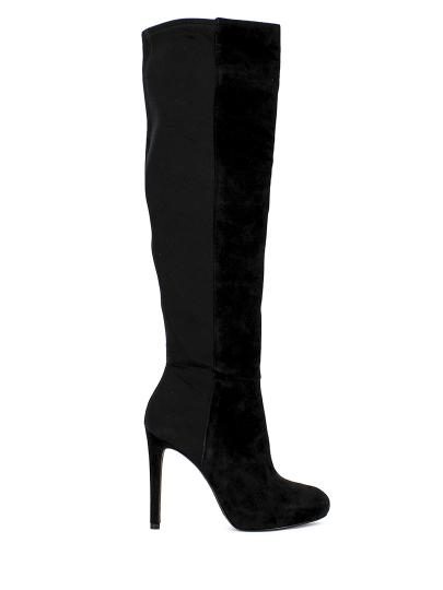 Женские демисезонные сапоги ash betsy(fw14-m-105408-002),сапоги женские,велюр/текстиль черный черные   0ah.ah35911.k купить в официальном магазине AshRussia.ru