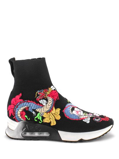 Женские демисезонные кроссовки ash legend fw17-s-123565-001,кроссовки женские,текстиль черный/мульти черные   7ah.ah63059.т купить в официальном магазине AshRussia.ru
