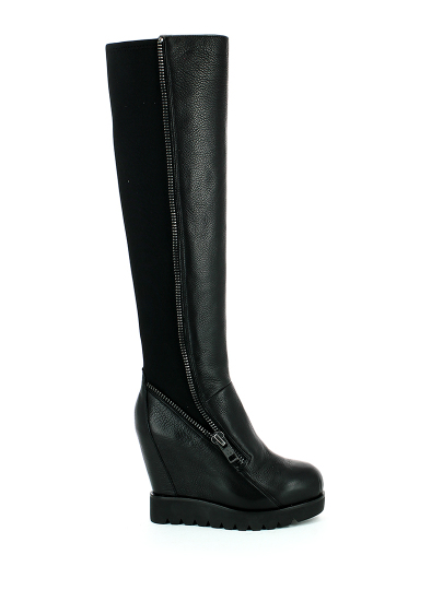 Женские демисезонные ботфорты ash tosca(fw14-m-105372-001),ботфорты женские,кожа/текстиль черный черные   0ah.ah37565.k купить в официальном магазине AshRussia.ru