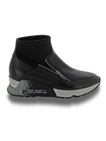 Женские демисезонные кроссовки ash liu (fw15-s-105278-001),кроссовки женские,кожа/текстиль черный/синий черные | 2ah.ah43035.т купить в официальном магазине AshRussia.ru