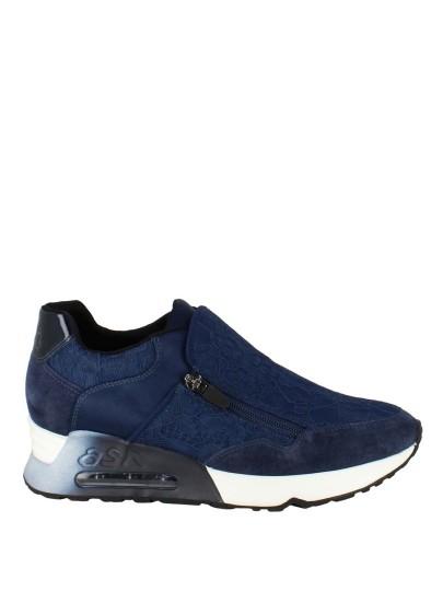Женские демисезонные кроссовки ash look lace (ss17-s-118619-001),кроссовки женские,текстиль/велюр/кожа иск. _синий синие   5ah.ah53051.т купить в официальном магазине AshRussia.ru