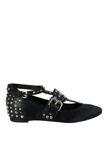 Женские летние туфли ash iggy (ss17-m-117863-001),туфли закрытые женские,текстиль/кожа _черный черные   5ah.ah53452.k купить в официальном магазине AshRussia.ru