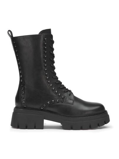 Женские демисезонные ботинки ash liam studs черные   5ah.ah107066.k купить в официальном магазине AshRussia.ru