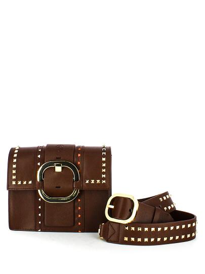 Женская демисезонная сумка ash коричневая Артикул 5ah.ah54133. в интернет магазине итальянских сумок ASHRUSSIA.RU