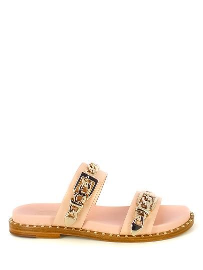 Женские летние шлепанцы ash meika ss18-m-124542-004,шлепанцы женские,кожа св.розовый розовые   7ah.ah63957.k купить в официальном магазине AshRussia.ru
