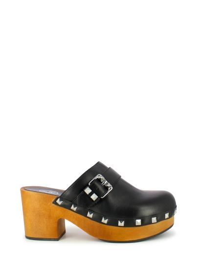 Женское летнее сабо ash yao (ss17-m-113800-001),сабо женские,кожа _черный черное   5ah.ah53393.k купить в официальном магазине AshRussia.ru