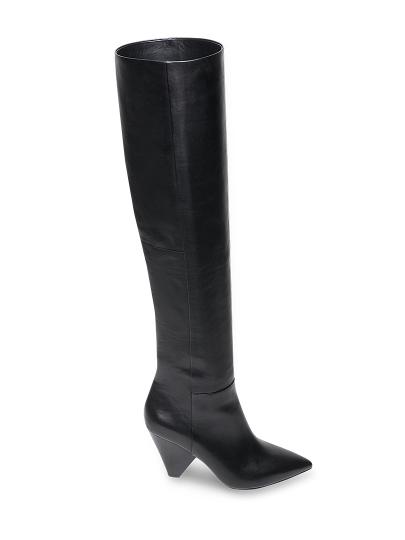 Женские демисезонные ботфорты ash dragon fw18-m-125680-001,ботфорты женские,кожа черный черные   8ah.ah69035.k купить в официальном магазине AshRussia.ru