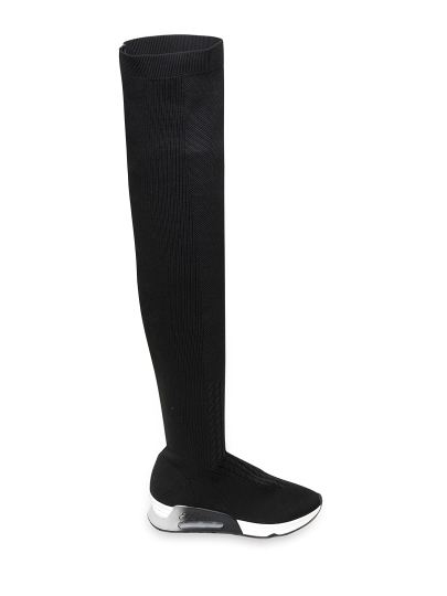 Женские демисезонные ботфорты ash lola fw18-s-125876-001,ботфорты женские,текстиль черный черные   8ah.ah69210. купить в официальном магазине AshRussia.ru